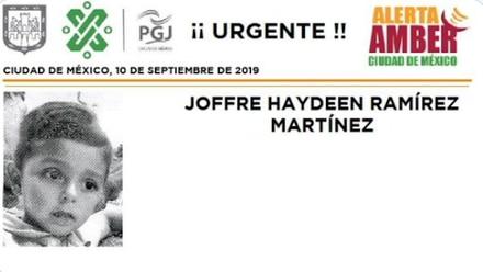 Joffre Haydeen Ramírez Martínez Alerta Amber
