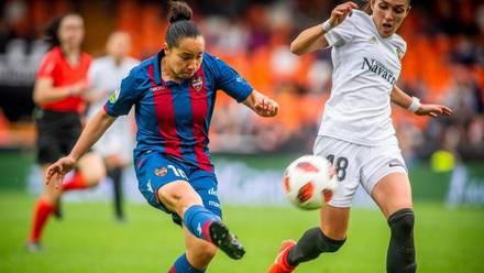 Corral marcó el mejor gol de la temporada en el derbi ante el Valencia