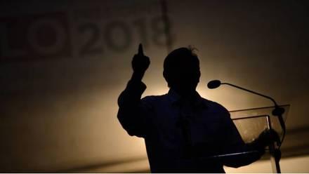 Andrés Manuel López Obrador, candidato de la coalición Juntos Haremos Historia