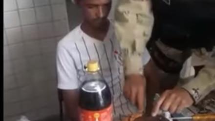 Policías en Brasil celebran cumpleaños 18 a detenido.