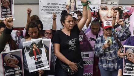 Protesta por Ingrid Escamilla.