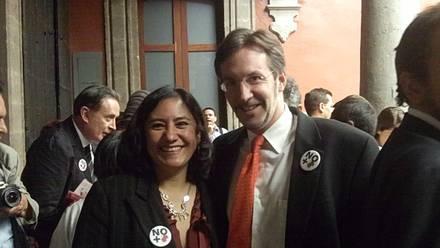 John Ackerman e Irma Eréndira, presuntos anfitriones