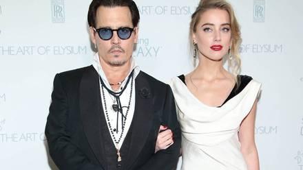 Johnny y Amber Heard
