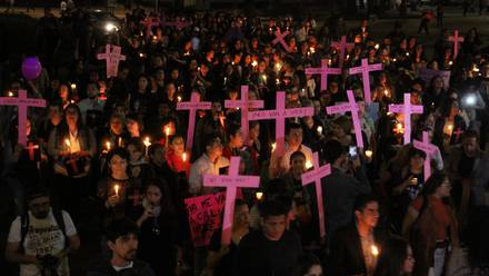 Marcha contra feminicidios 2019.