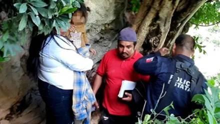 Niña reportada como desaparecida es encontrada al interior de una cueva