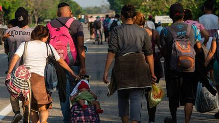 Migrantes en Villa Comatitlán, Chiapas