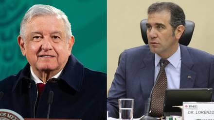 AMLO y Lorenzo Córdova