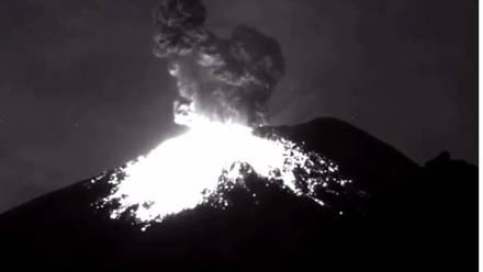 Explosión Popocatépetl