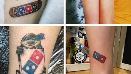 Tatuajes de Domino's.