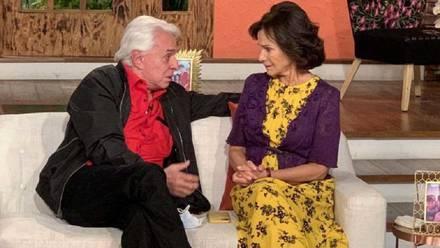 Pati Chapoy y Enrique Guzmán
