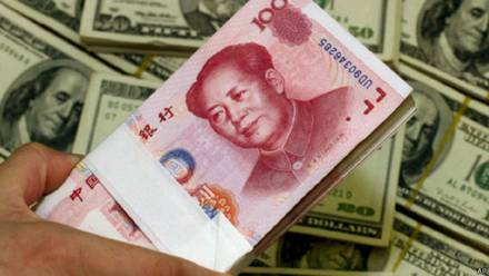 Yuan. Moneda china.