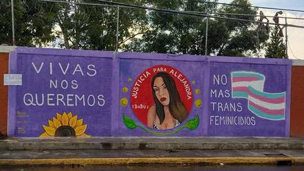 Mural del feminicidio de Alejandra Calvo
