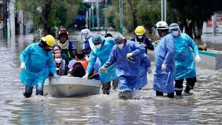 Inundación en hospital del IMSS en Tula
