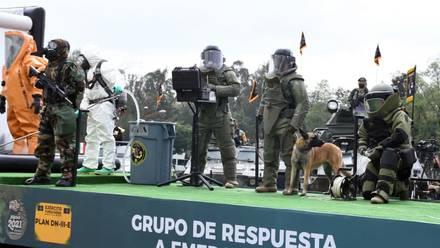 Preparativos del desfile militar 2021
