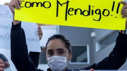 Manifestación de personal de salud