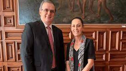Marcelo Ebrard y Claudia Sheinbaum