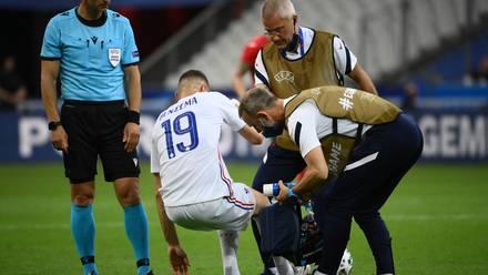 Karim Benzema sufrió una lesión en un partido amistoso
