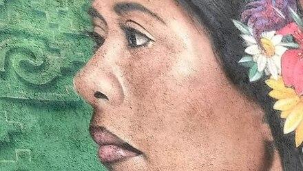 Mural de Yalitza Aparicio en CDMX