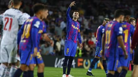 El FC Barcelona cayó en su debut en la Champions League 2021-22