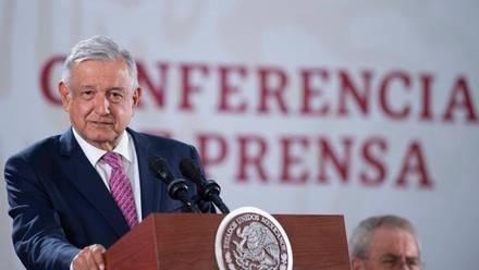 El presidente López Obrador en conferencia de prensa