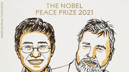 Los periodistas María Ressa y Dmitry Muratov, ganadores del Premio Nobel de la Paz 2021