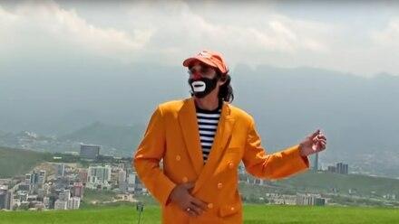 Cepillín bailando como el Joker