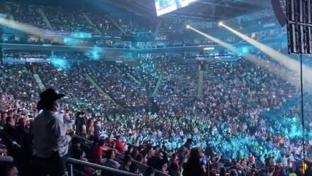 Arena Monterrey con al menos 18 mil personas.