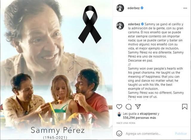 Eugenio Derbez se despide de Sammy Pérez