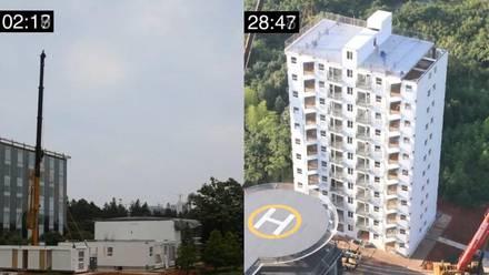 Edificio de diez pisos en China