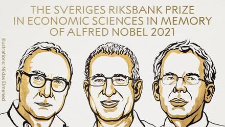 David Card, Joshua Angrist y Guido Imberns, ganadores del Premio Nobel de Economía 2021