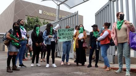 Protesta por el aborto legal