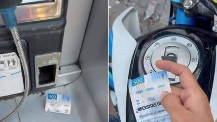 El falso billete de 500 pesos - Publicidad