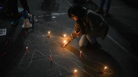 Protesta por asesinato de periodistas en México.