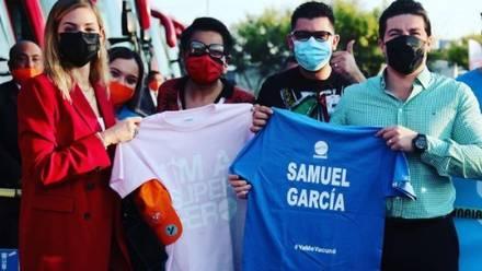 Samuel García arraca nueva ruta de vacunación transfronteriza