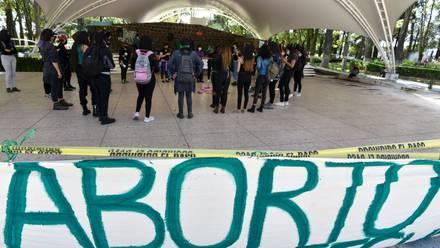 Protesta aborto legal en el Edomex
