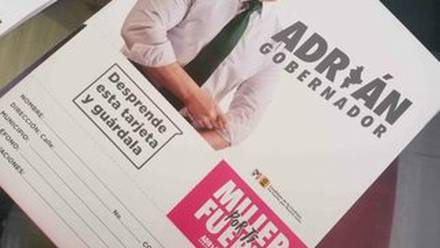 Adrián de la Garza, en tarjetas de apoyo a mujeres