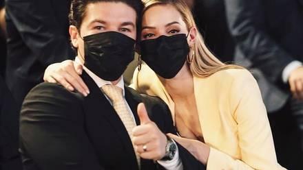 Mariana Rodríguez con su esposo Samuel García