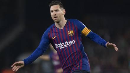 Lionel Messi celebra gol con Barcelona.