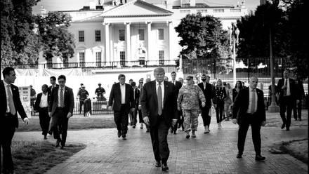 El presidente estadounidense Donald Trump volvió a apelar el martes a una comparación de sí mismo con Abraham Lincoln