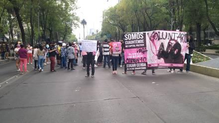 Manifestación Edgar Cera