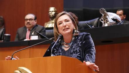Xóchitl Gálvez, senadora del PAN.