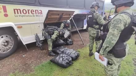 Droga asegurada en Michoacán