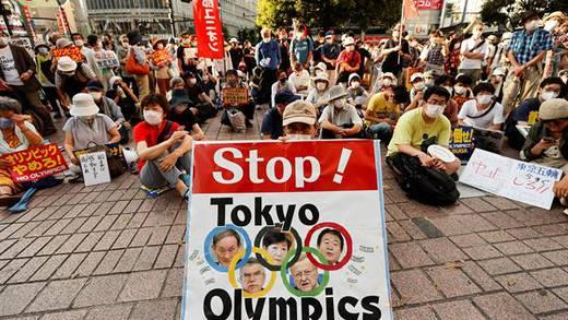 Juegos Olímpicos de Tokio: Protestan a la par de la ceremonia de inauguración