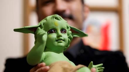Niño Dios como Baby Yoda