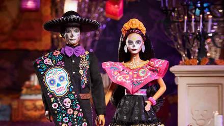 Muñecos Barbie y Ken en su edición de 'Día de Muertos'