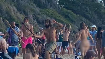 Fiesta nudista en Hawái