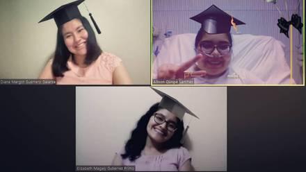 Allison Quispe, Diana Guerrero y Elizabeth Gutiérrez