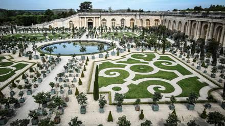 The 'Orangerie' of Versailles Palace in Versailles, (Photo by STEPHANE DE SAKUTIN / AFP)