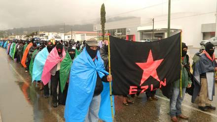 EZLN en San Cristóbal, Chiapas