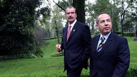 Vicente Fox y Felipe Calderón